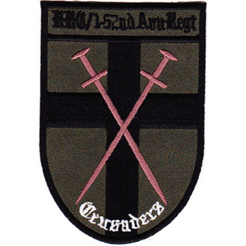 1st Squadron 52nd Aviation Regiment HQ Company Patch OD