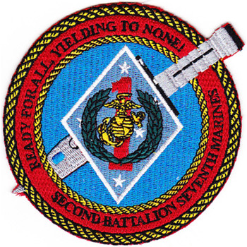 2nd Battalion 7th Marines Regiment Patch
