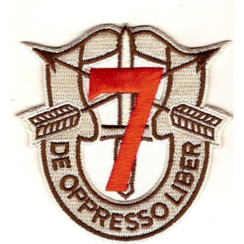 7th Special Forces Group Crest Desert Red 7 Patch