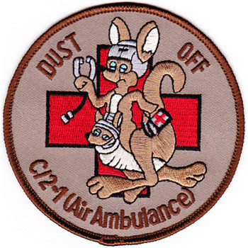2nd Battalion 1st Regiment Aviation Air Ambulance C Company Patch