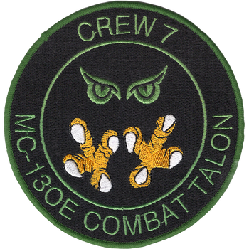 1st SOS Crew 7 MC-130E Patch