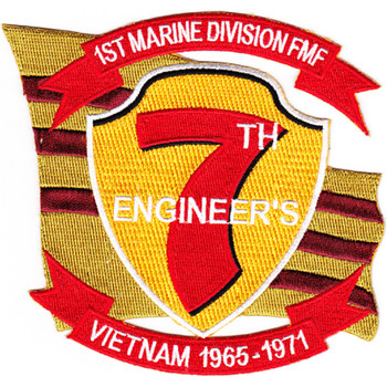 1st Marine Division Fleet Marine Force 7th Engineers Patch