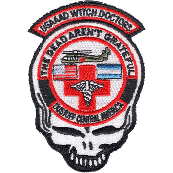 1st Battalion 228th Aviation Air Ambulance Mini Skull Patch Hook And Loop