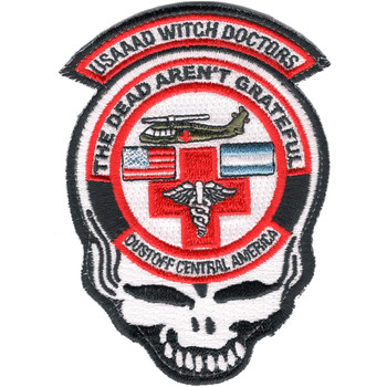 1st Battalion 228th Aviation Air Ambulance Middle Skull Patch Hook And Loop