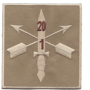 1st Battalion 20th Special Forces Group Helmet Desert Patch