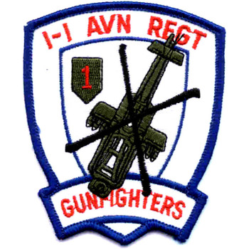 1st Battalion -1st Aviation Regiment Patch