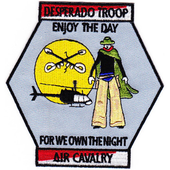 1st Battalion 1st Aviation Cavalry Regiment D Company Patch