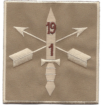 1st Battalion 19th Special Forces Group Helmet Desert Patch