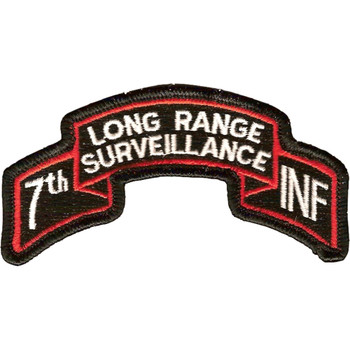 7th Infantry Division Long Range Scroll Patch