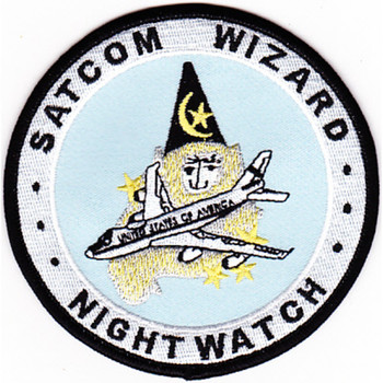 1st Airborne Command And Control Squadron Satcom Wizard Patch