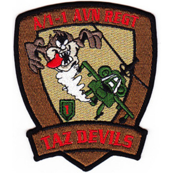 1 Battalion 1st Aviation Regiment A Company Patch