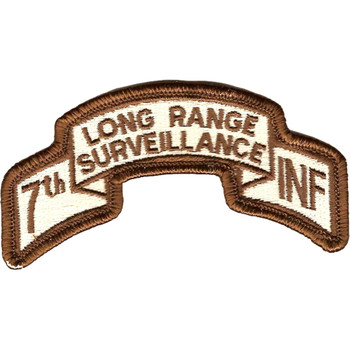 7th Infantry Division Long Range Scroll Desert Patch