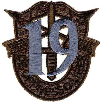 19th Special Forces Group Crest OD Green Blue 19 Patch