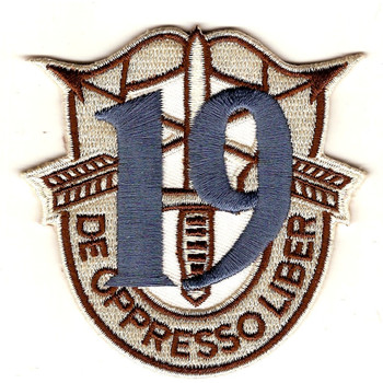 19th Special Forces Group Crest Desert Blue 19 Patch