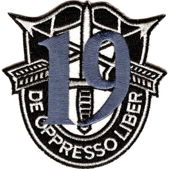 19th Special Forces Group Crest Blue 19 Patch