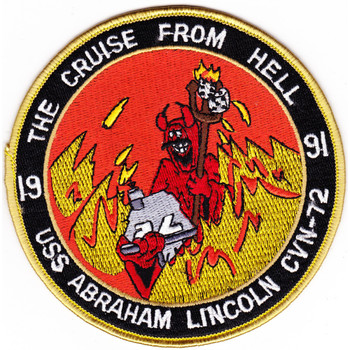 1991 Curse From Hell CVN-72 USS Abraham Lincoln Patch