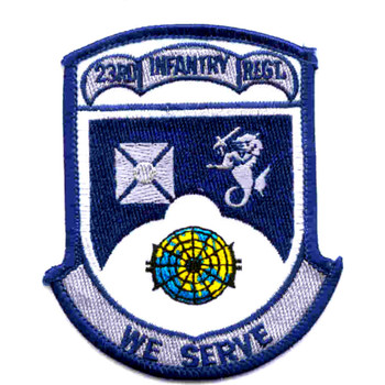23rd Infantry Regiment We Serve Patch