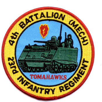 23rd Infantry Regiment 4th Battalion (Mech) Patch Tomahawks