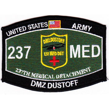 237th Medical Detachment Military Occupational Specialty Rating MOS Patch Dmz Dustoff