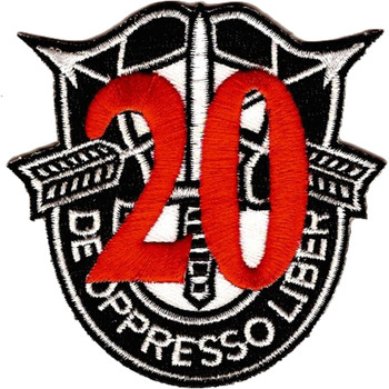20th Special Forces Group Crest Red 20 Patch