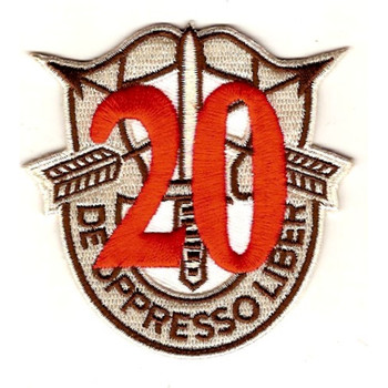 20th Special Forces Group Crest Desert Red 20 Patch