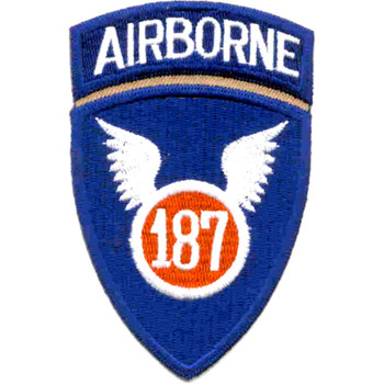 187th Infantry Regiment Patch - Korea Airborne - Version A