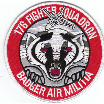 176th Fighter Squadron Alaska Air National Gaurd Patch Badger Air Militia