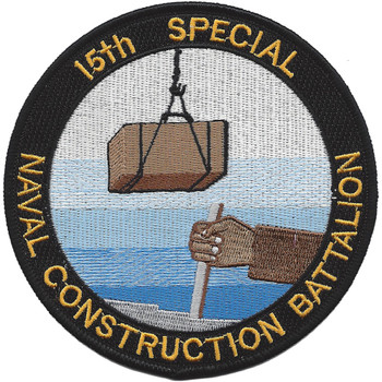 15th Special Naval Construction Battalion WWII Patch