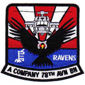78th Aviation Battalion A Company Patch