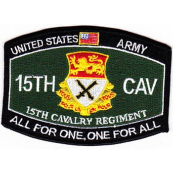 15th Cavalry Regiment MOS Patch 1957-1967