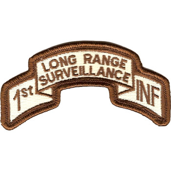 1st Infantry Division Long Range Scroll Desert Patch