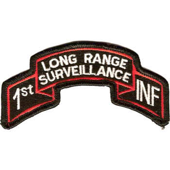 1st Infantry Division Long Range Scroll Patch