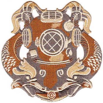 1ST Class Diver Badge Desert Patch