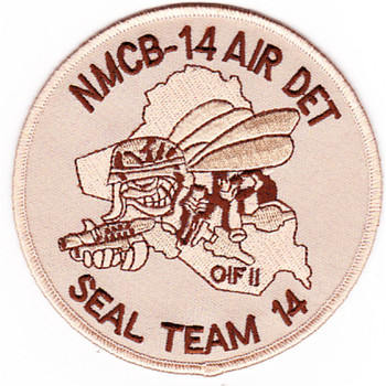 14th Mobile Construction Battalion Air Det Seal Team 14 Patch