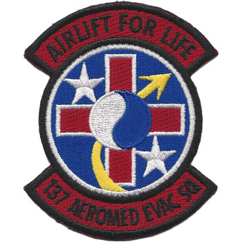 137th Aeromed Evac Squadron Patch