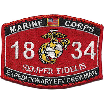 1834 Expeditionary EFV Crewman MOS Patch