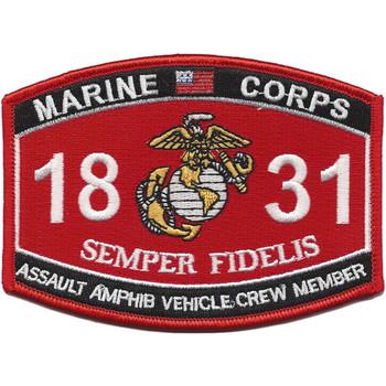 1831 Assault Amphib Vehicle Crew Member Patch