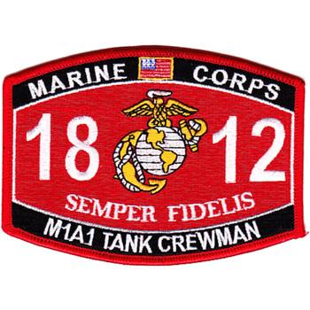1812 M1A1 Tank Crewman MOS Patch