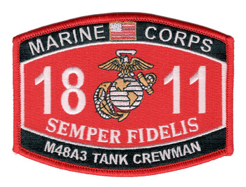 1811 MOS M48A3 Tank Crewman Patch