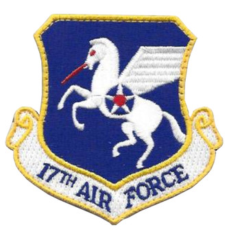 17th Air Force Shoulder Patch Hook And Loop