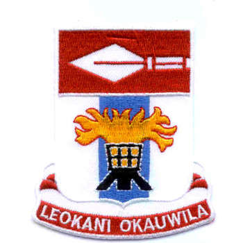 125th Signal Battalion Patch Leokani Okauwila