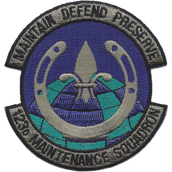 123rd Maintenance Squadron Patch
