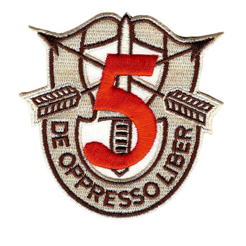 5th Special Forces Group Crest Desert Red 5 Patch