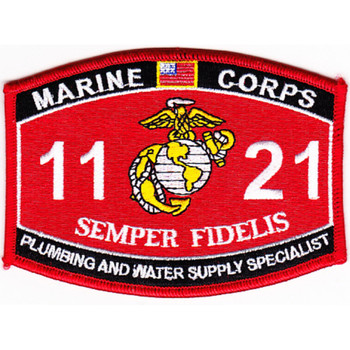 1121 Plumbing And Water Supply Specialist MOS Patch
