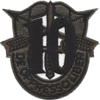 10th Special Forces Group Crest OD Green Patch