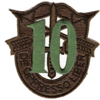 10th Special Forces Group Crest OD Green 10 Patch