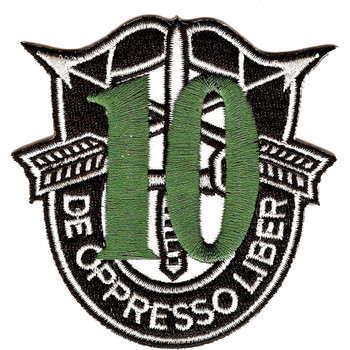 10th Special Forces Group Crest Green 10 Patch