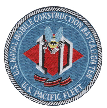10th Mobile Construction Battalion Patch Pacific Fleet