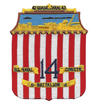 14th Construction Battalion WWII Patch