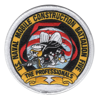 5th Mobile Construction Battalion The Professionals Patch